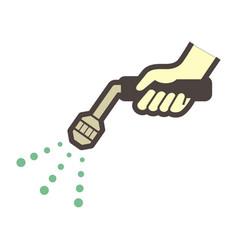 spray water icon vector image