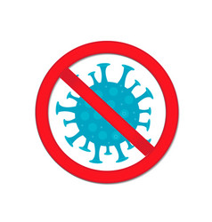 stop coronavirus red prohibition sign-pregnant vector image