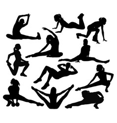 stretching sport vector image