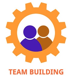 team building vector image