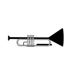 trumpet musical instrument icon image vector image
