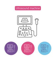 Ultrasound diagnostic icon vector