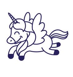 Unicorn print vector