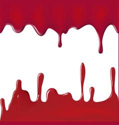 various blood or paint splatters set vector image