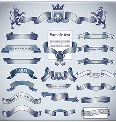 Vintage ribbons vector