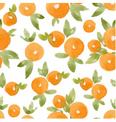 Watercolor abstract orange pattern vector