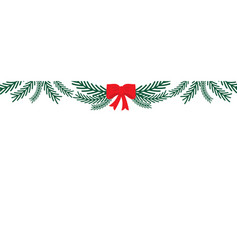 winter banners with bow merry christmas and happy vector image