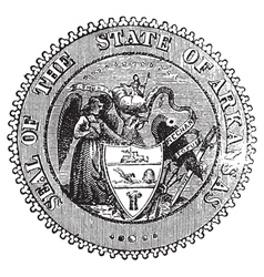 Arkansas Seal vintage engraving vector image