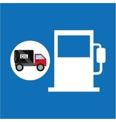 tank truck oil industry gasoline vector image
