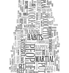 your habits will determine your future text word vector image vector image