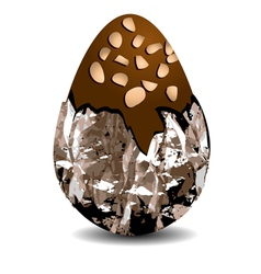 chocolate egg with nuts vector image