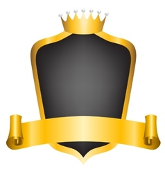 crown and ribbon vector image vector image
