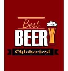 German best beer banner vector image
