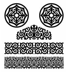 Kazakh pattern vector image