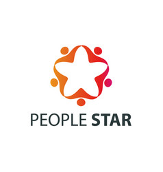 people star logo design template vector image