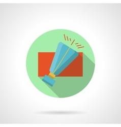 Blue sky lantern round flat color icon vector image vector image