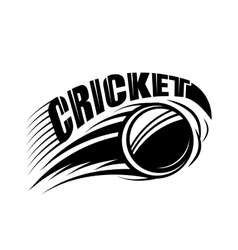 cricket badge template with vector image