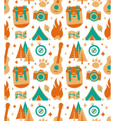 hipster nature travel adventure seamless vector image