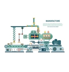 Industrial abstract machine in flat style vector image vector image