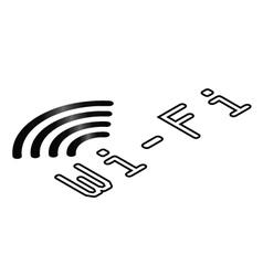 Isometric WiFi symbol vector image