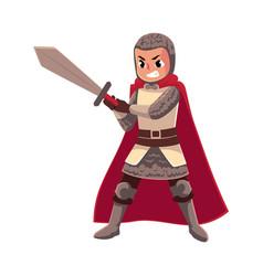 medieval knight apprentice sword bearer squire vector image
