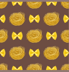 Pasta whole wheat seamless pattern corn rice vector