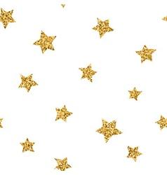 Stars seamless pattern gold vector