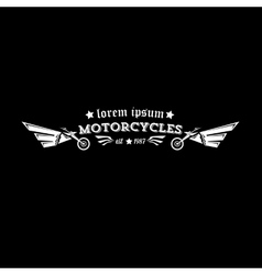 vintage motorcycle label or badge vector image