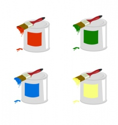 cans of paint vector image vector image