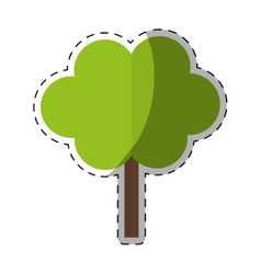 colorful Tree in city scene icon image vector image