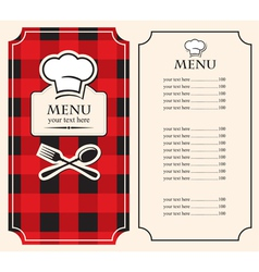 menu on black red vector image vector image