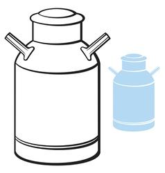 milk can vector image vector image
