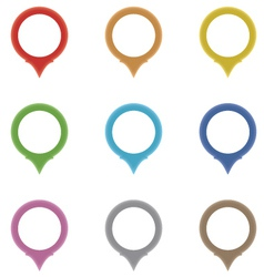 Set of circle pointers in the colors of the rainb vector image vector image
