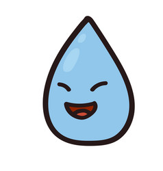 a happy water color drop vector image