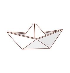 A paper boat vector
