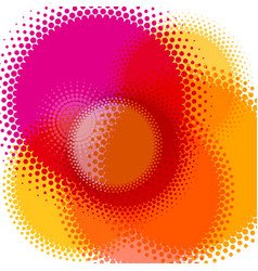 Abstract colorful background halftone circles vector