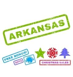 Arkansas Rubber Stamp vector