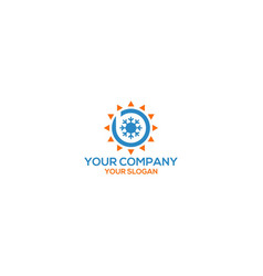 B heating and air conditioner logo design vector
