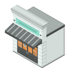 bakery street shop icon isometric style vector image