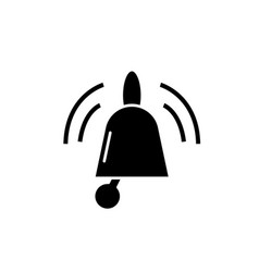 bells black icon sign on isolated vector image