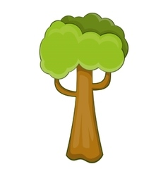 Big tree icon cartoon style vector image