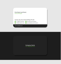 Black business card for entrepreneurs vector