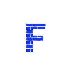 brick logo letter f vector image