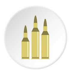 Bullet ammunition icon circle vector