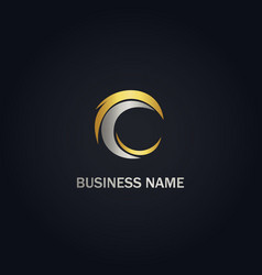 c abstract business logo vector image