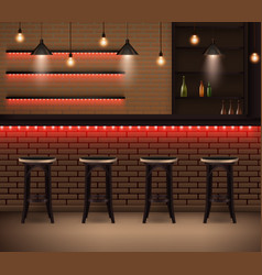 cafe interior realistic background vector image