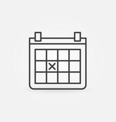 calendar outline icon vector image