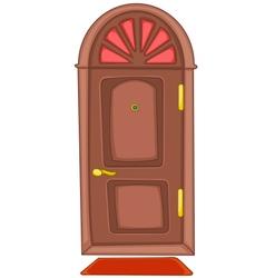 cartoon home door vector image