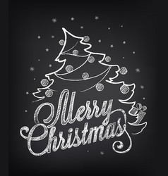Christmas on chalkboard vector