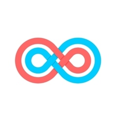 Color infinity crossed lines logo vector